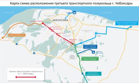 Карта-схема ТТПК Чебоксары