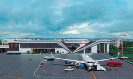 Реконструкция здание аэропорт Чебоксары