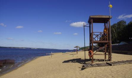 один из пляжей чебоксар