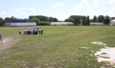 Проект строительства футбольного поля в Урмарах