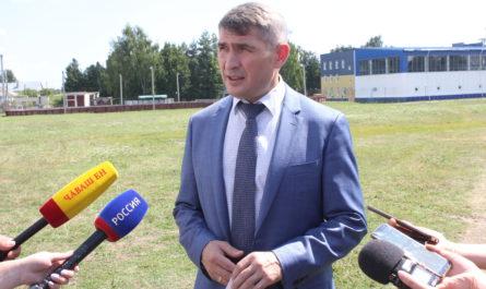Олег Николаев в Урмарском районе