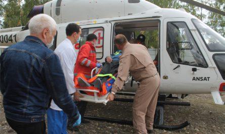 Медицинский вертолет доставил первого пациента из Батыревского района в Чебоксары