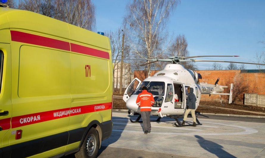 В Чебоксарах открыли первую вертолетную площадку для санавиации