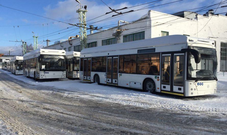 В Чувашию прибыли еще 14 новых троллейбусов