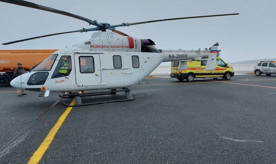 Вертолёт санавиации в непростых погодных условиях доставил пациента из Канаша в Чебоксары