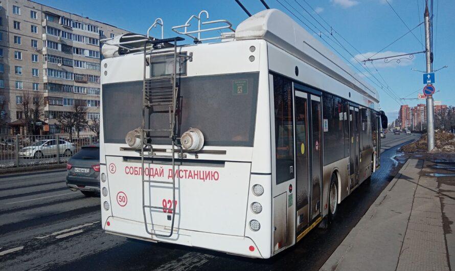 В Чебоксары поступила последняя партия новых троллейбусов