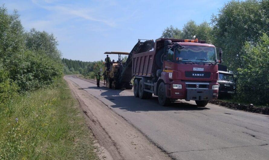 В Аликовском районе по нацпроекту приступили к ремонту автодороги «Аликово-Старые Атаи-«Сура»
