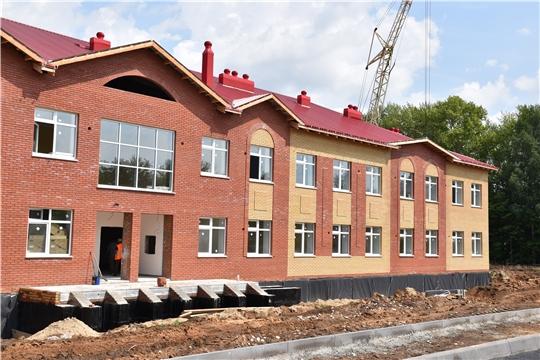Новую школу в деревне Кашмаши Моргаушского района достроят к 1 сентября
