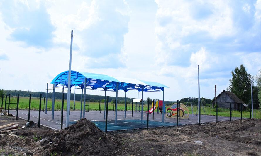 В Ибресинском районе строят три детские площадки и благоустраивают дворы