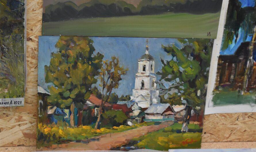 В Ядрине завершился пленэр художников, посвященный архитектору Петру Егорову