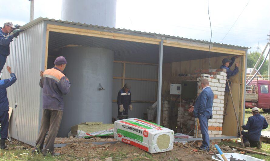 В Шемуршинском районе капитально ремонтируют две водонапорные башни