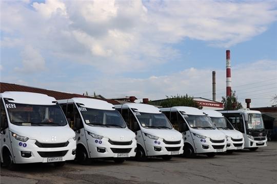 Пять новых автобусов среднего класса вышли на маршрут № 262 «Чебоксары – Новочебоксарск»