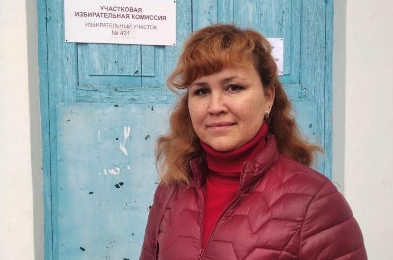 Медсестра из д. Ямбахтино проголосовала за развитие социальной сферы