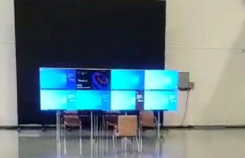 В Чувашии смонтировали видеостену для наблюдения за ходом выборов