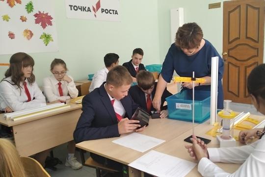 В двух школах Мариинско-Посадского района открылись Центры образования «Точка роста»