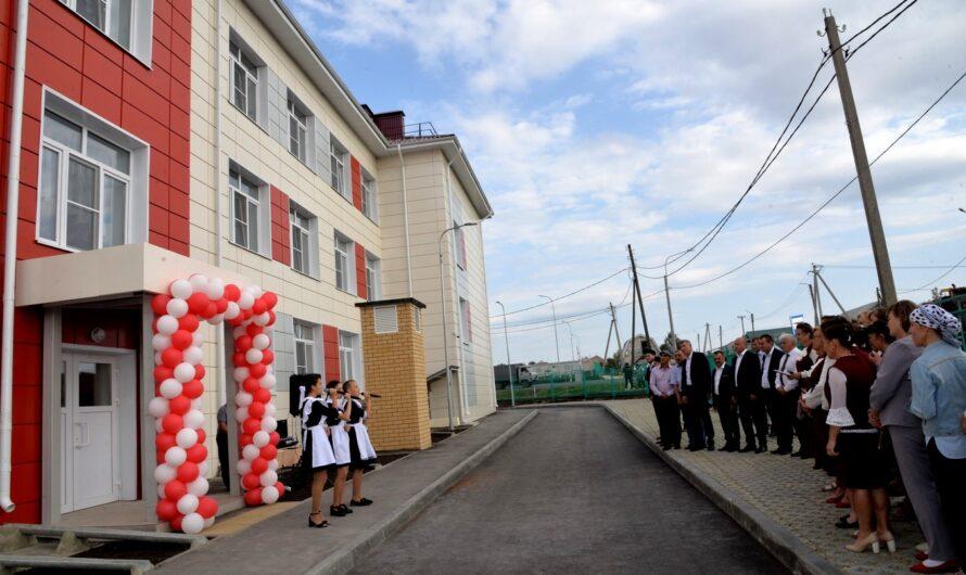 В Батыревском районе достроили новое здание пристроя на 120 мест к Шыгырданской школе № 1