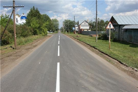 В Чебоксарском районе по национальному проекту отремонтируют около 37 км автодорог