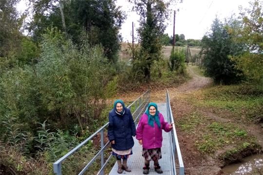 В селе Шигали Урмарского района по инициативе жителей построили новый мост через реку