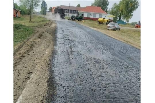 В Ядринском районе ремонтируют дорогу «Ядрин – Николаевское – Симекейкасы – Хочашево»